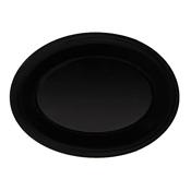 G.E.T. OP-950-BK 9.5'' x 7.25'' Oval Platter - G.E.T. Melamine