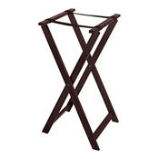 G.E.T. TSW-103 31.5'' High Hardwood Tray Stand - Tray Stands