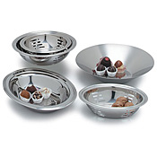 "Carlisle 9-3/4"" Stainless Steel Slotted Display Bowls - Servingware"