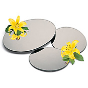 "Carlisle Round 24"" Mirrored Display Tray - Servingware"