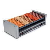 Nemco 8027SX-SLT Slanted Hot Dog Roller Grill - Hot Dog Equipment and Supplies