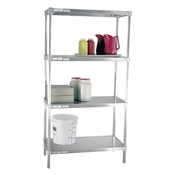 New Age 2472SB (4) and 72P (4) Adjustable Solid Shelving