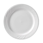 "Vertex China SAU-22 Sculpted Lines Plate 8"" - Dinner Plates"