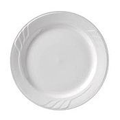 "Vertex China SAU-9 Sculpted Lines Plate 9-3/4"" - Dinner Plates"