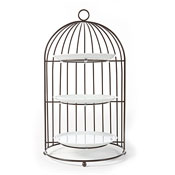 Turgla BCG1001 Bird Cage With 3 Porcelain Plates - Display Risers