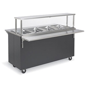 Vollrath 38-3-3 Affordable Portable 3 Well Hot Food Station - Portable Steam Tables