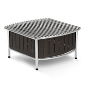 Vollrath 4667 Contoured Small Buffet Station with Wire Grill - Display Risers