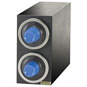 San Jamar C2903BK EZ-Fit Triple-Box, Black Beverage Center Cabinets - San Jamar
