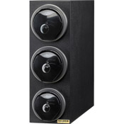 San Jamar L2913 EZ-Fit Sm/Lrg 3-Compartment Countertop Lid Dispenser - San Jamar