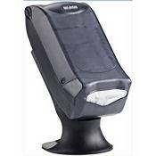 San Jamar H5005STBK Venue Black Fullfold Control Stand Napkin Dispenser - San Jamar