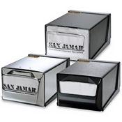 San Jamar H3001SS Stainless Countertop Fullfold Napkin Dispenser - San Jamar