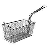 "FMP 13-1/4""L x 5-3/4""W x 5-3/4""H Fry Basket with Plastic-Coated Handle"