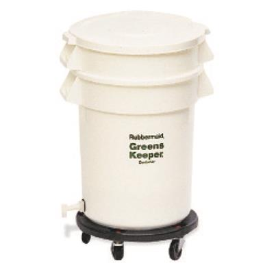 Rubbermaid FG262400WHT GreensKeeper, 20 Gal Crisper with lid, dolly