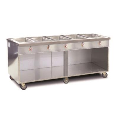FWE HLC-6W6-1-DRN Six Well Radiant Steam Table