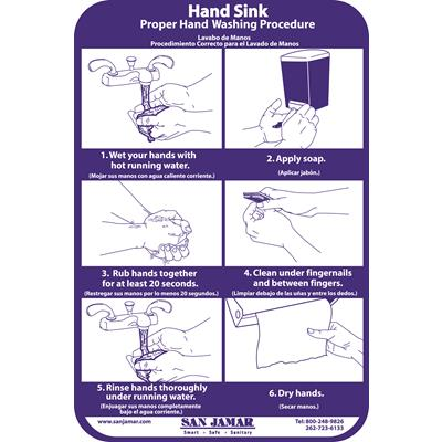 San Jamar Hand Washing Station Smart Chart
