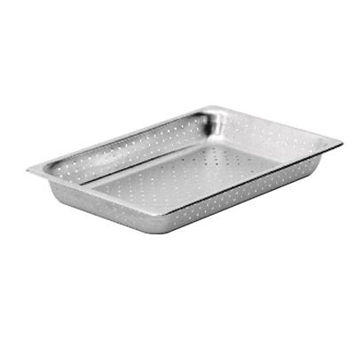 "Economy Perforated Anti-Jam Full Size, 6"" D Steam Table Pans"
