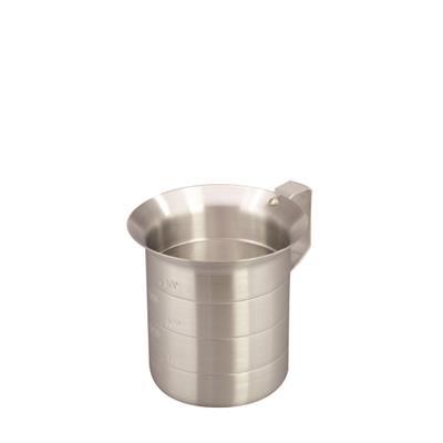 Winco 2 qt. Aluminum Baker's Measure