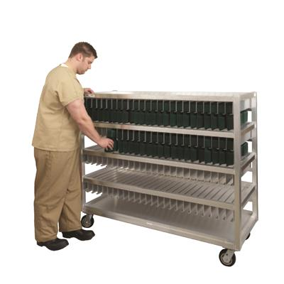 """New Age Industrial 59-3/4""""W x 24""""D x 52-11/16""""H, 300 Tray Capacity Flex Tray Drying Rack"""