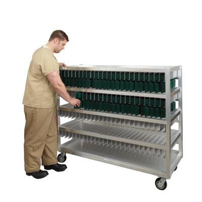 """New Age Industrial 58-1/2""""W x 28""""D x 77-15/16""""H, 375 Tray Capacity Flex Tray Drying Rack"""