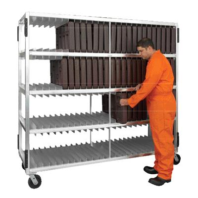 """New Age Industrial 4-Shelf 82-5/8"""" Universal Tray Drying Rack"""