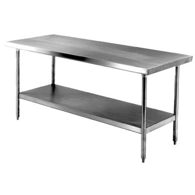 "FSE WT-3072-E Economy 30"" x 72"" Stainless Steel Work Table"
