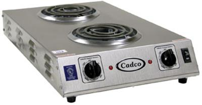 Cadco CDR-1T Commercial 2 Burner Electric Hot Plate - Hot Plates