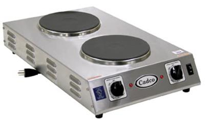 Cadco CDR-2CFB Double Space Saver Hot Plate - Hot Plates