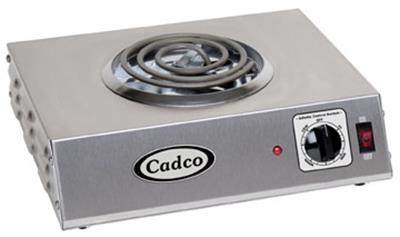 Cadco CSR-1T Sinlge Burner Electric Countertop Hot Plate - Hot Plates