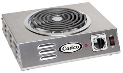 Cadco CSR-3T Single Stainless Hot Plate - Hot Plates