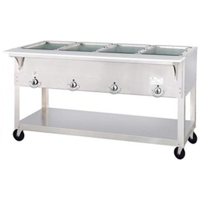 Duke EP304 Four Well Electric Steam Table with Exposed Elements