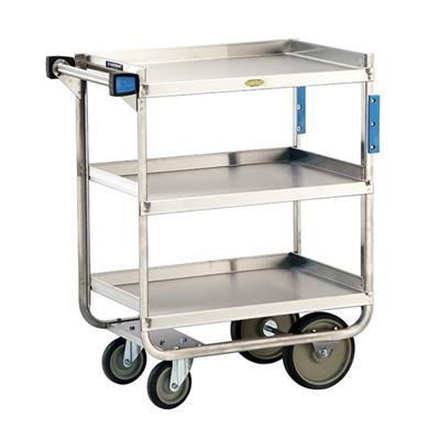 "Lakeside Heavy-Duty 30"" x 16"" 2-Shelf Utility Cart"