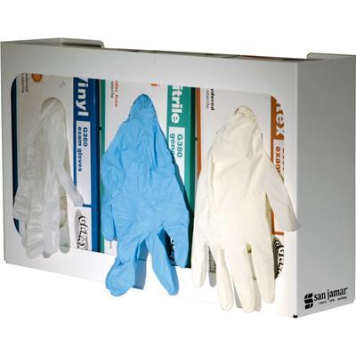 San Jamar Triple White Enamel Glove Dispenser