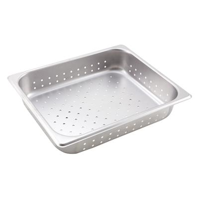 """Economy Perforated Anti-Jam 1/2 Size, 2-1/2"""" D Steam Table Pans"""