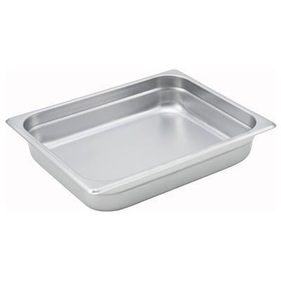 "Winco Anti-Jam 1/2 Size, 2-1/2"" D Steam Table Pan"