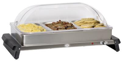 Cadco WTBS-3RT Triple Buffet Server