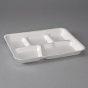 Disposable Five-Compartment Trays