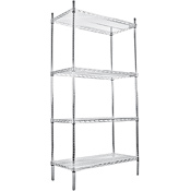 "Economy 24"" x 60"" Reinforced Chrome Wire Shelf"