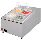 APW RTR-4 4-Compartment Refrigerated Condiment Unit - Condiment Servers
