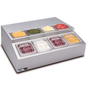 APW RTR-8 8-Compartment Refrigerated Condiment Unit - Condiment Servers