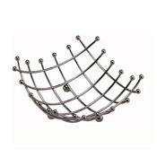 "American Metalcraft Chrome Checker 8"" Sq Space/Time Continuum Basket - American Metalcraft"