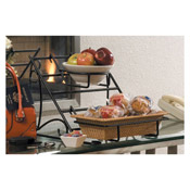 "American Metalcraft Wrought Iron 13-1/8"" Rectangular Rack - Display Risers"