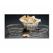 "American Metalcraft 6-3/4"" Stainless Scroll Bread Basket - American Metalcraft"