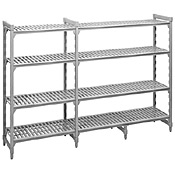 "Cambro Camshelving 18""W x 48""L x 64""H 5-Shelf Vented Add-On Unit"