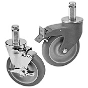 "Cambro Camshelving 5"" Swivel Casters with Brakes"
