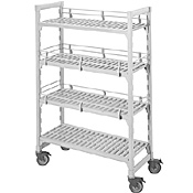 "Cambro Camshelving 18""W x 48""L x 67""H 4-Shelf Premium Vented Mobile Starter Unit"