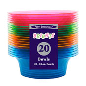 Party Essentials N102090 Assorted Neon Bowls - Party Essentials