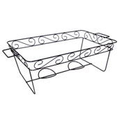 Party Essentials N1217 Black Full Size Elegance Rack - Catering & Buffet Disposables