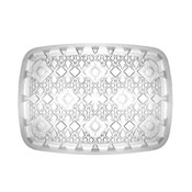 "Party Essentials N151012 15"" x 10"" Crystal Clear Diamond Cut Tray - Party Essentials"