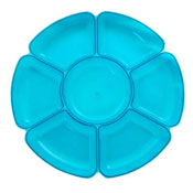 Party Essentials N16629 Round 7 Sectional Tray - Party Essentials