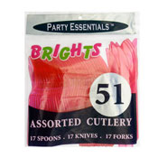 Party Essentials N2451 Assorted Plastic Cutlery - Party Essentials